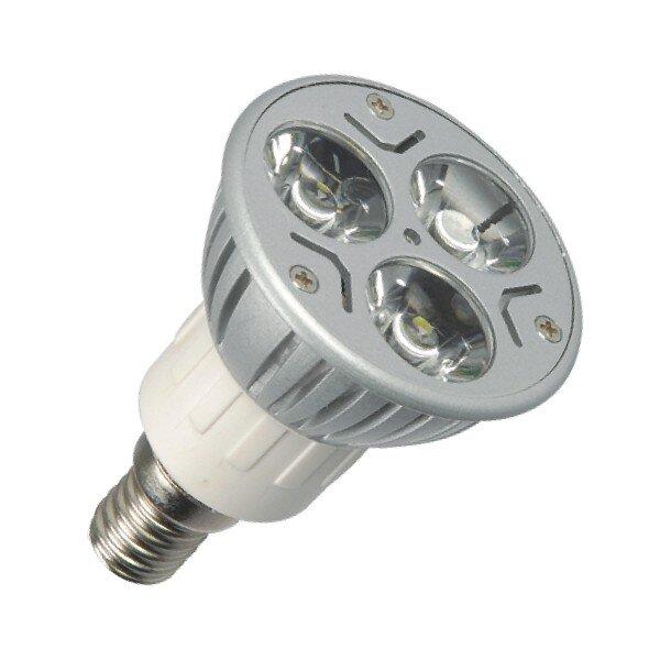E14 Led spot 3 x 1 Power LED Warm wit