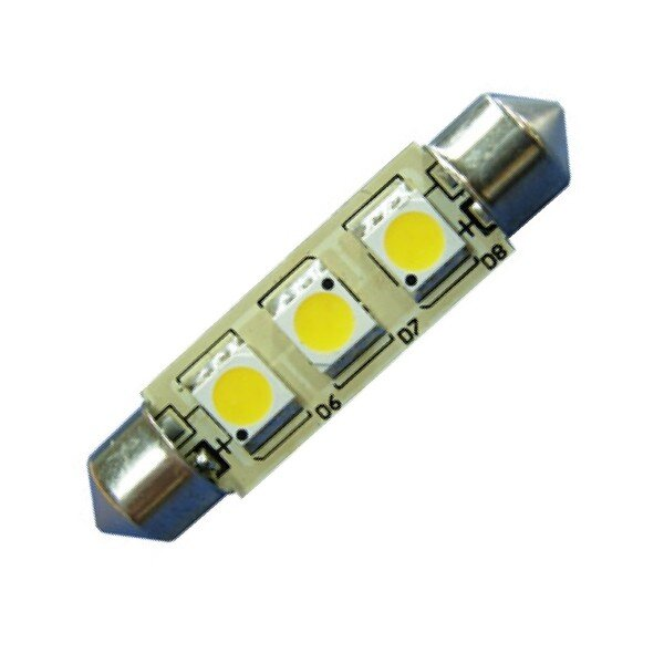 LED S8 Festoon Buislamp 3SMD Warm wit