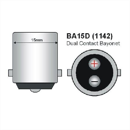 BA15D naar MR11 fitting 12v of 24v