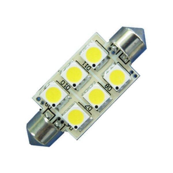 LED S8 Festoon Buislamp 6 SMD Wit