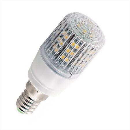 E14 Ledlamp 24 SMD 12 of 24 Volt Warm wit