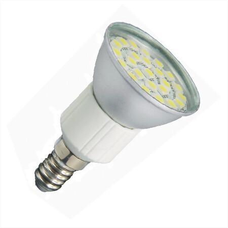 E14 LED Spot JDR 24SMD 12v en 24v Warm wit