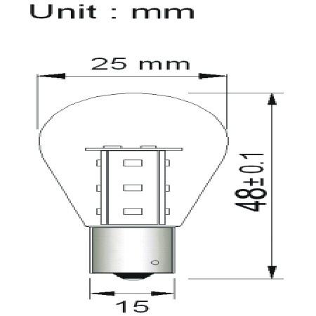 BA15D LED Lamp Melkglas 12V en 24V Multi-voltage