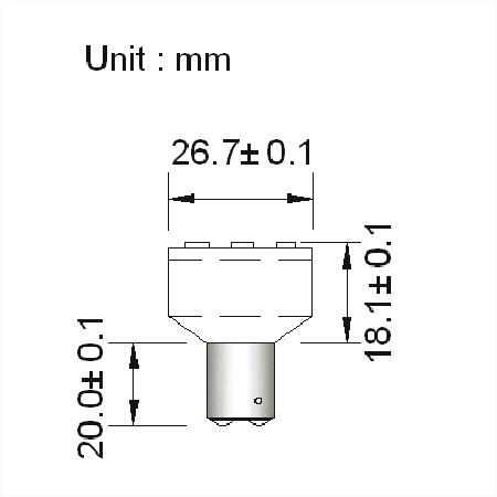 BA15D LED Spot 12V en 24V Warm wit-792