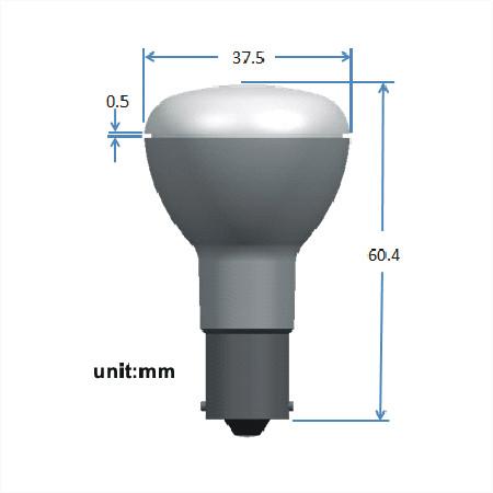 BAY15d LED Spot 12V en 24V Warm wit Melkglas