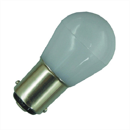 BA15S LED Lamp Melkglas 12V en 24V Multi-voltage