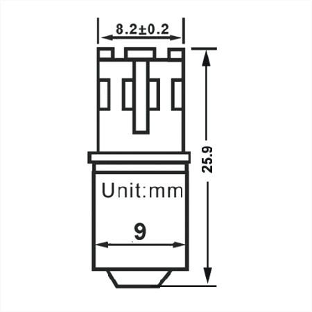 maten, BA9s LED Lamp 12V en 24V Multi-voltage 12SMD