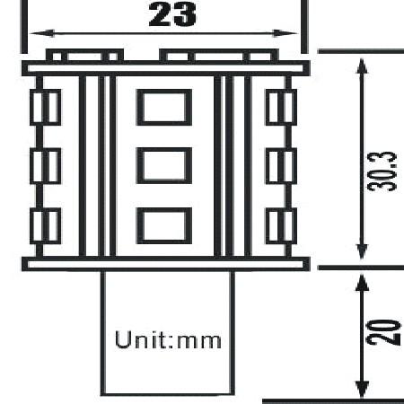 BAY15D LED Navigatieverlichting 24LED's