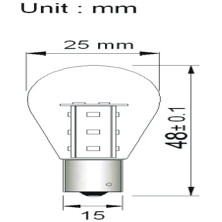 BA15D 15SMD Lamp 12V en 24V Multi-voltage