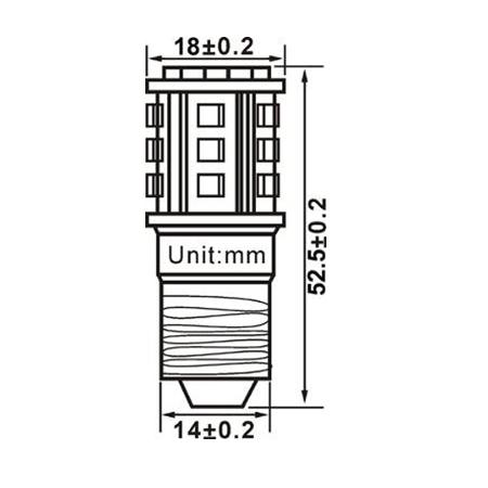 E14 Led lamp 18 SMD 12 of 24 Volt Warm wit-1138