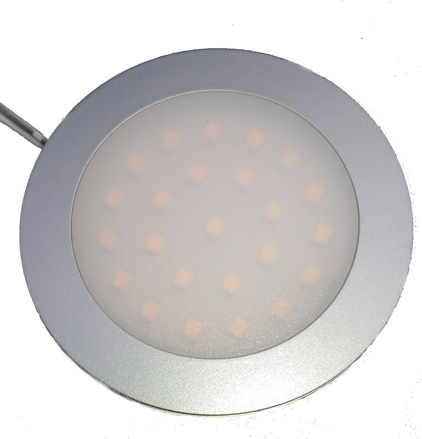 Opbouwspot met melkglas 2w 12v 24v 10-30 volt