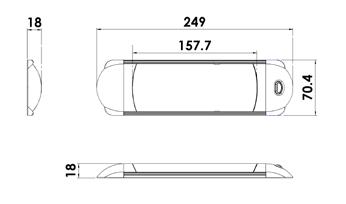 LED Opbouw onderbouw licht balk met Schakelaar-1091