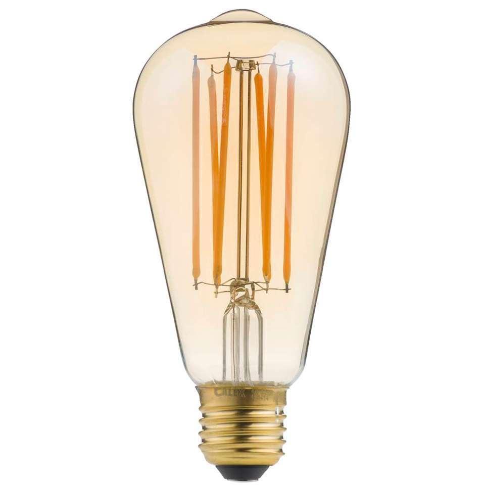 12v E27 24v ST64 Edison lamp Amber 4w multi-voltage.
